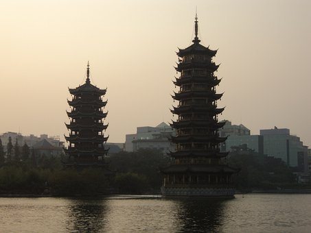 Asia, China, Temple, Chinese, Asian, Building, Landmark