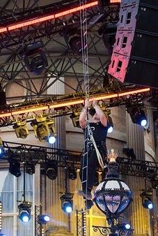 Lighting Rigger, Wire Ladder, Climbing, Stage Lighting