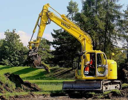 Construction Machine, Excavators, Shovel, Site