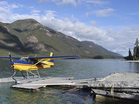 Lake, Float Plane, Water, Aerial, Landscape, Nature