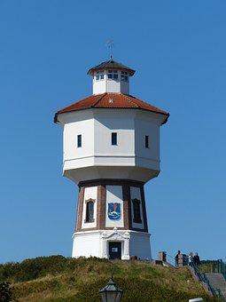 Lighthouse, Langeoog, East Frisia, Island, Coast