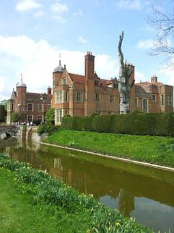 Kentwell Hall, Mansion, Stately Home, Moat, Structure
