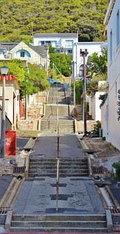 Stairs, Side Street, Rise, Lime Bay, South Africa