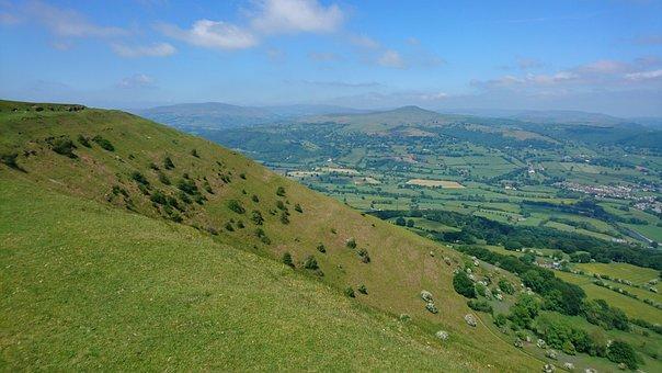 Wales, Blorange, Mountain, Landscape, Countryside
