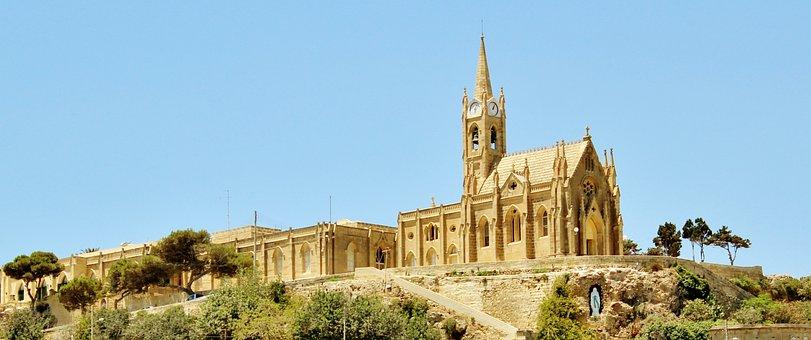 Gozo, Outside, Port City, Malta, Architecture, Building