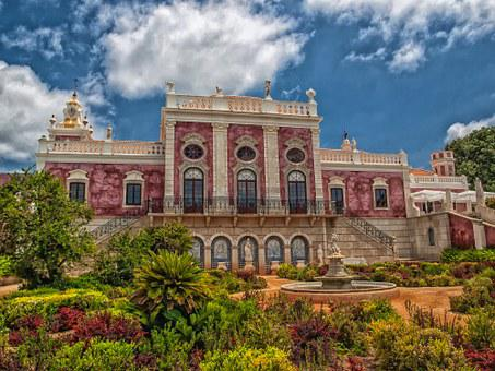 Palace Of Estoi, Portugal, House, Mansion, Residence