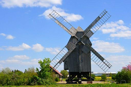 Post Mill, Windmill, Mill, Wind Power, Historically