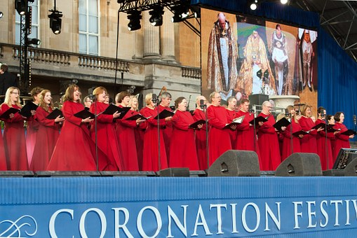 Choristers, Red Vestments, Buckingham Palace