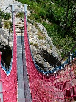 Suspension Bridge, Bridge, Crossing, River, Rope Bridge