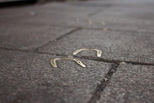 Horseshoes, Sidewalk, Ground, Pavement, Surface, Road