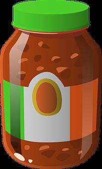 Sauce, Tomato, Salsa, Food, Jar, Glass, Container