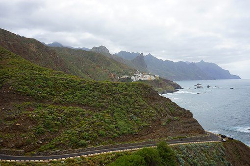 Almaciga, Coast, Tenerife, North Coast, Sea, Mountains