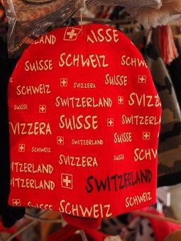 Cap, Red, Ski Cap, Switzerland