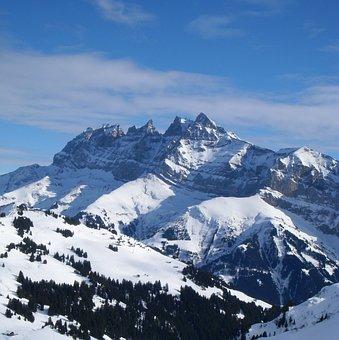 Mountain, Snow, Dents Du Midi, Switzerland
