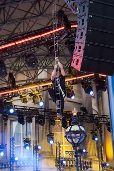 Lighting Rigger, Wire Ladder, Climbing, Stage Lighting