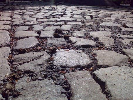 Stones, Patch, Away, Granite, Structure, Road, Ground