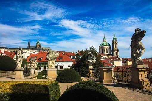 Prague, Vrtbovská Garden, The Sky, Summer