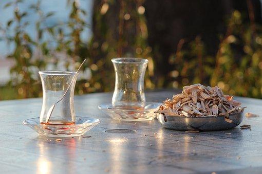 Turkish Tea, Cay, Sunflower Seeds, Turkey