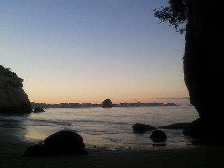 New Zealand, North Island, Sunset, Coromandel Peninsula