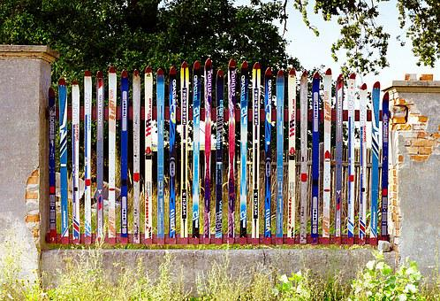 The Fence, Skis, Fencing, Lake Dusia, A Joke, Old Skis