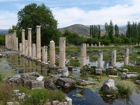 Aphrodisias, Turkey, Excavation, Antique, Antiquity