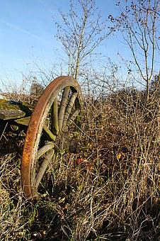 Wagon Wheel, Wheel, Old, Tost, Nostalgic, Agriculture