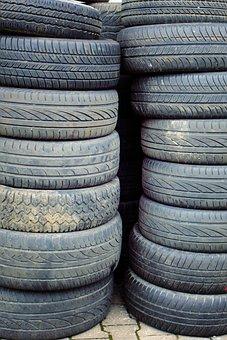 Mature, Auto Tires, Storage, Stock, Disposal