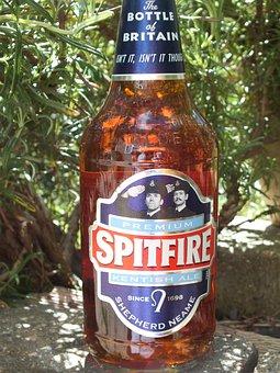 Spitfire, Beer, Bottle, Alcohol, Liquor, Orange, Brown