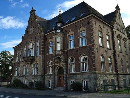 District Court, Brick, Delmenhorst, Building, Facade