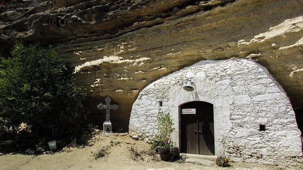Cyprus, Ayios Sozomenos, Cave, Church, Village