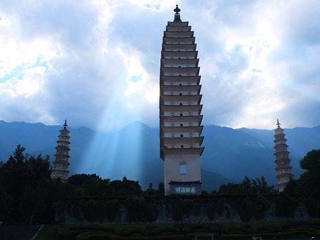Dali, Chongsheng Temple, Three Towers