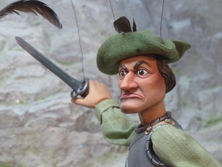 Puppet, Man, Human, Fighter, Robin Hood, Doll