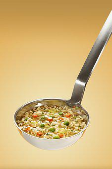 Delicious, Food, Healthy, Ladle, Meal, Noodles, Soup
