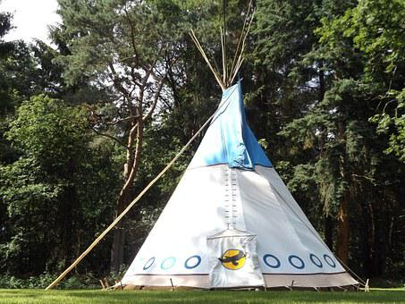 Tipi, Forest, Nature, Wild, Summer, Meadow, Tent, Grass
