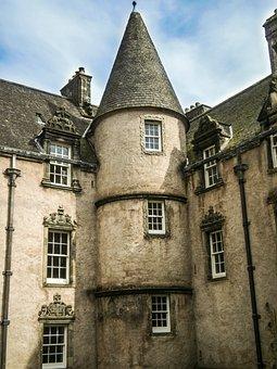 Scotland, Sterling, Home, Building, Villa, Grey