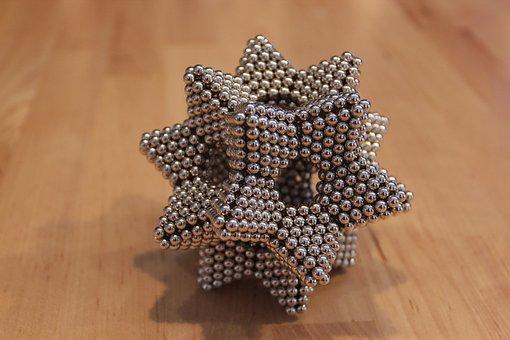 Magnetic Ball, Star, Magnet, 3d