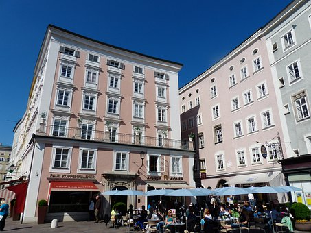 Townhouses, Old Market, Marketplace, Old Town, Salzburg