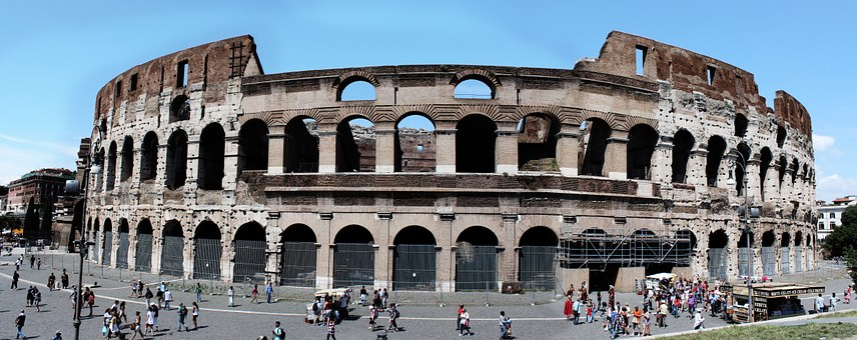 Italy, Colosseum, Panoramic, I Collesium