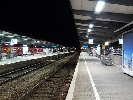Railway Station, Platform, Train, Railway, Breakpoint