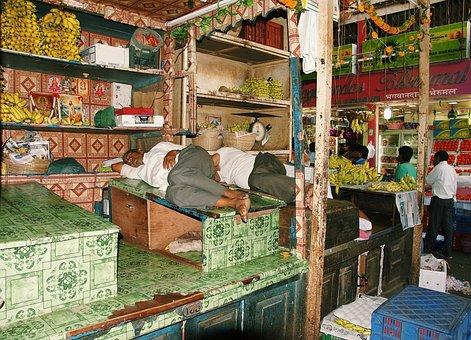 India, Mumbai, Work, Break, Rest, Sleep, Vegetables