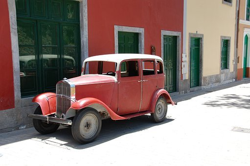 Gran Canaria, Spain, Island, Car, Old, Oldtimer, Rose
