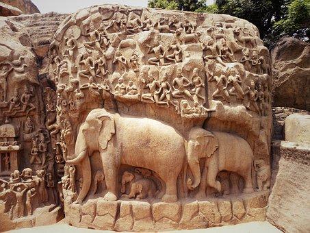 Art, Rock, Carving, Elephant, Sculpture, Cyril