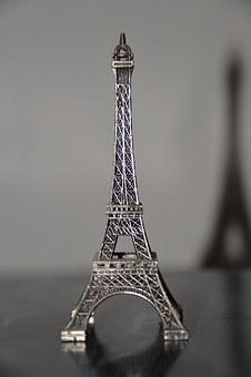 Eiffel Tower, Model, Miniature, Shadow
