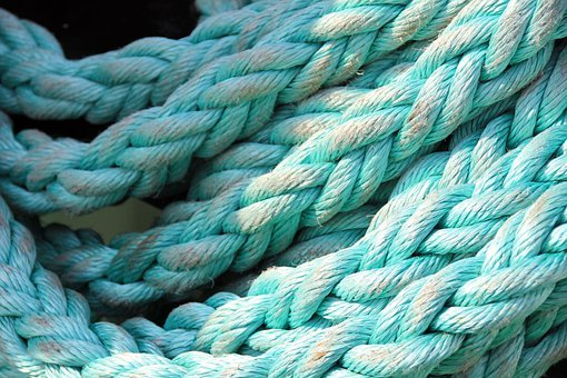 Rope, Thaw, Ship Traffic Jams, Blue, Turquoise, Woven