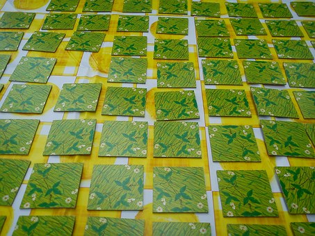 Memory, Cards, Play, Squares, Green, Yellow, Grid