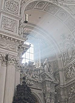 Church, Baroque, Window, Sunbeam, Church Window