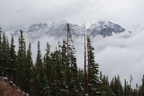 Mummy Range, Mountain Fog, Trail Ridge Road