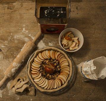 Pastries, Pie, Apple, Roller, Flour, Torte, Eat