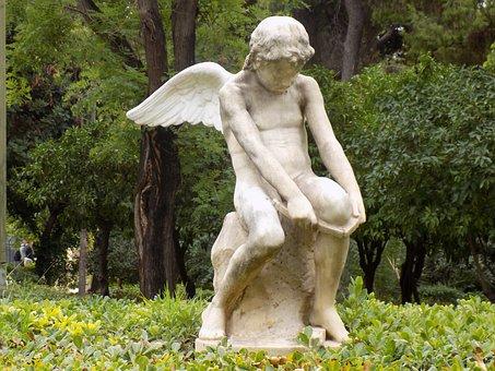 Cupid, Statue, Zappeion Garden, Athens, Greece