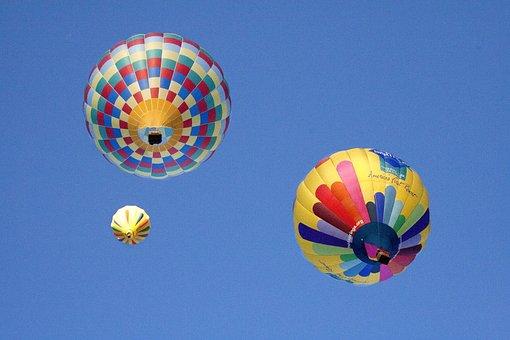 Ballon, Hot Air Balloons, Balloon Fiesta, Flight